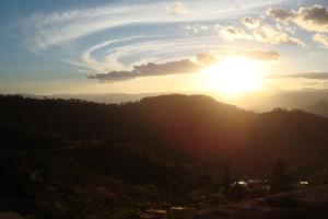 Sonnenuntergang über Santa Lucia