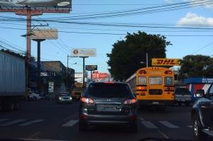 Verkehr in Tegucigala (© by Victoria Särnhult)