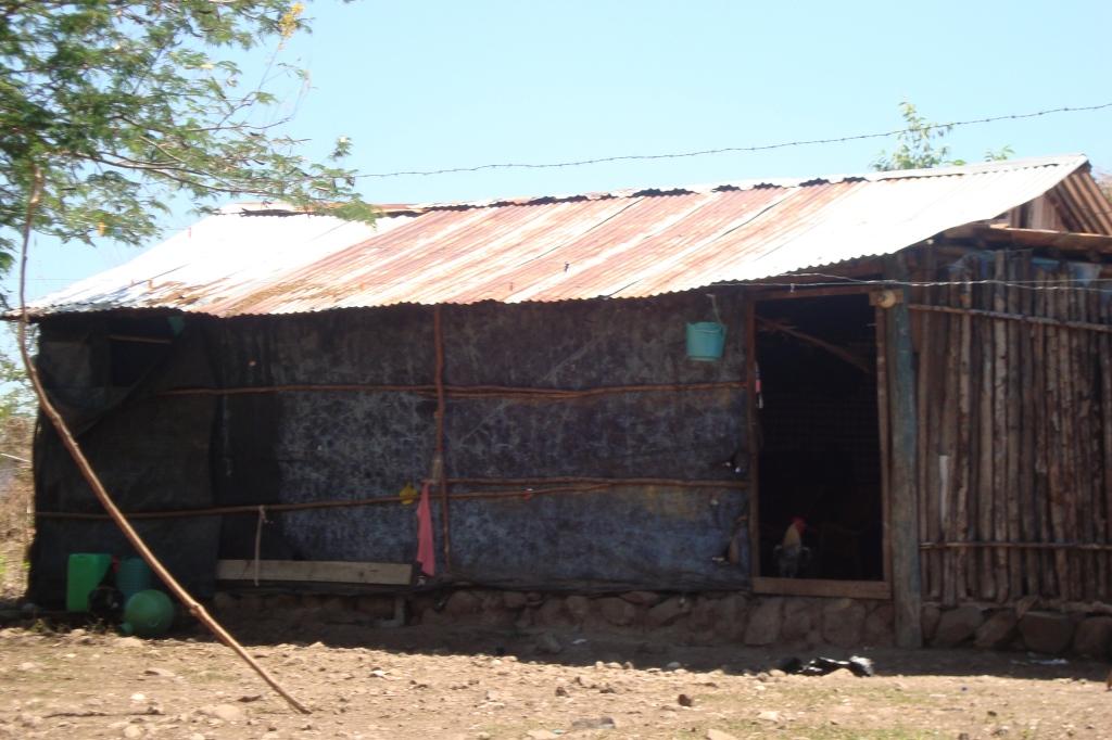 Typisches Haus auf Zacate Grande