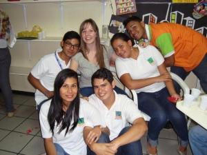 v.l.n.r. Jorge, ich, Fátima, Carlos, Mariam & Alex