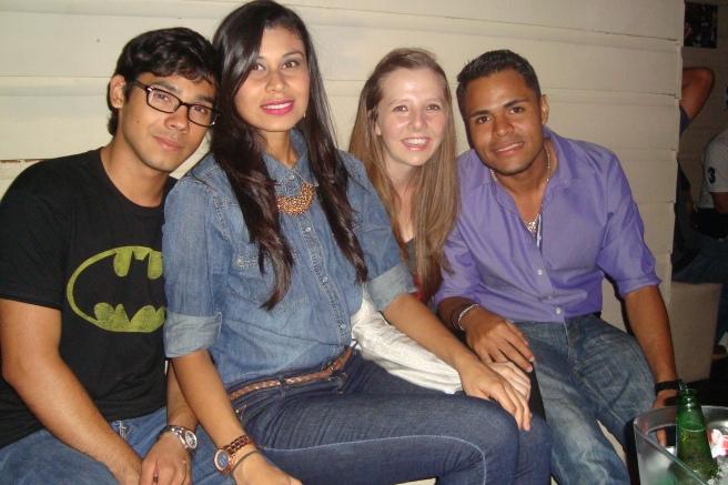 (v.l.n.r. Jorge, Mariam, ich & Carlos)