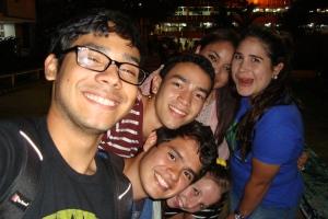 Abschied in der UNAH mit Jorge, Milovan, Elisabeth, Vicky (vl.n.r. hinten), Alex & mir (vorne)